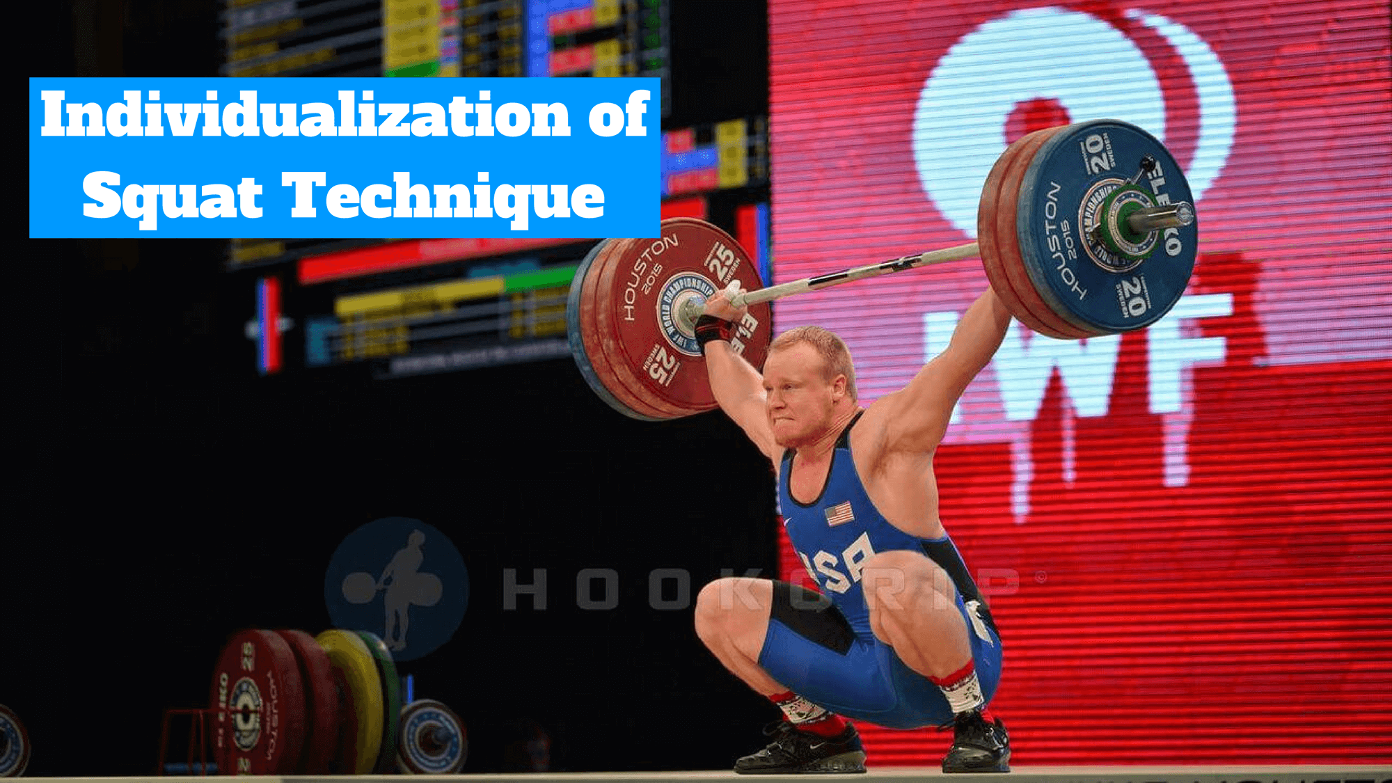 Olympic weightlifting squat