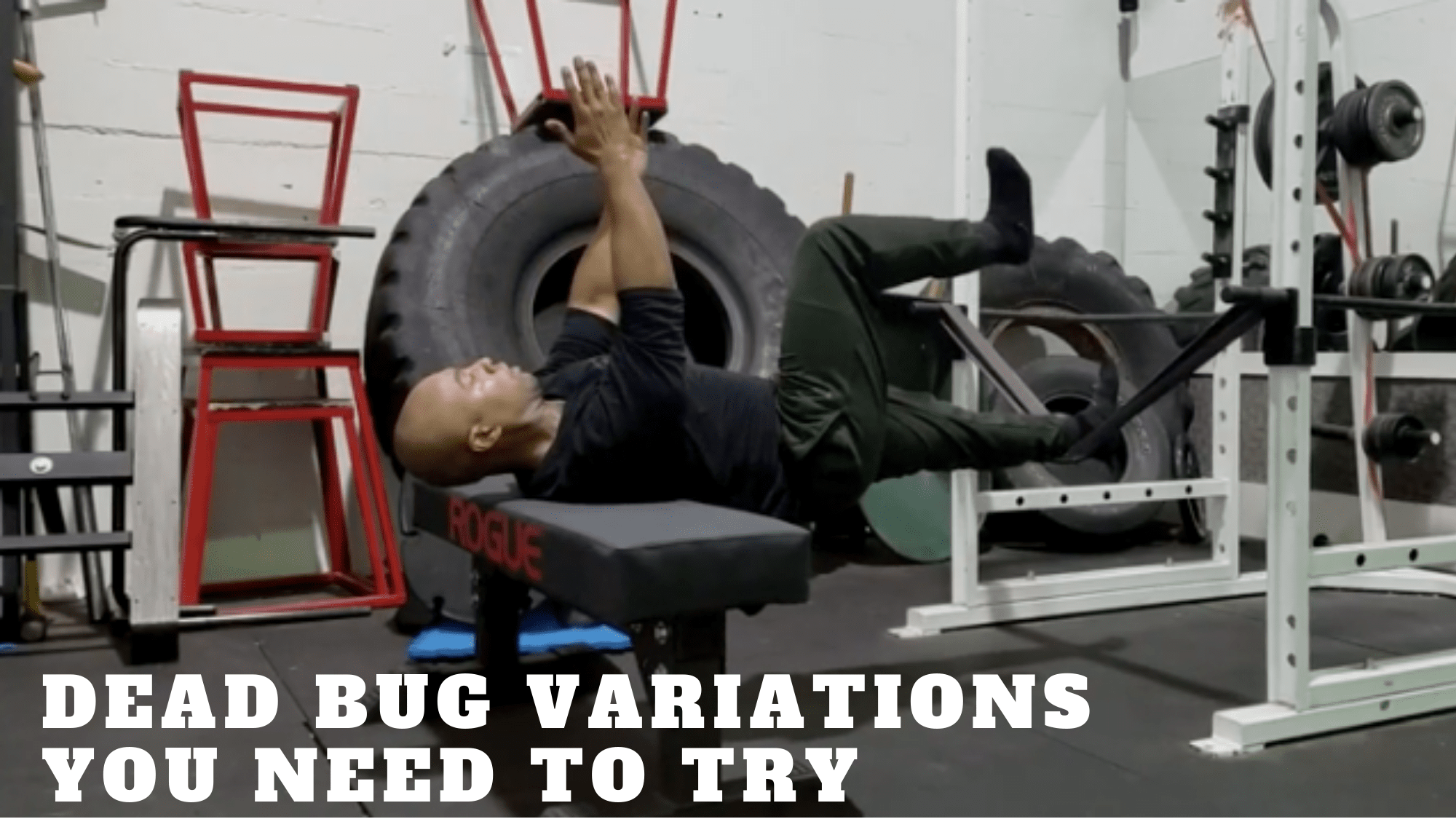 Dead bug exercise variations